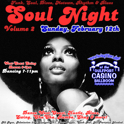 Soul Night the Second Sunday of Every Month at the Gulfport Casino Ballroom in Tampa Bay Florida