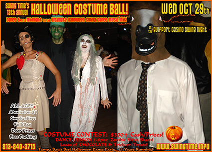 Swing Time's 13th Annual Halloween Costume Ball, Wednesday 10/29/2014, at the Gulfport Casino Swing Night