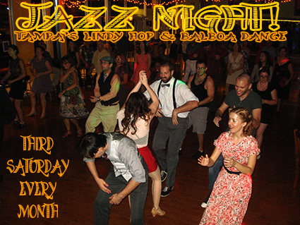 Jazz Night, Lindy Hop & Balboa Dance at Simone Salsa in Tampa Florida