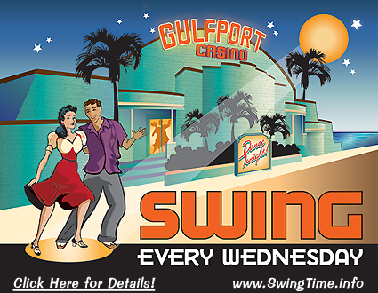 Gulfport Casino Swing Night! Swing Dance Every Wednesday at the Gulfport Casino Ballroom in Tampa Bay Florida